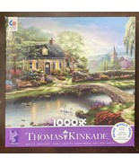 27 x 19 Thomas Kinkade 1000 Pc Puzzle Stoney Creek Cottage Complete Exclnt - $14.90