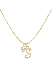 Disney Parks Mickey Mouse Faux Gem Icon Letter Initial S Necklace Gold Color - $28.90