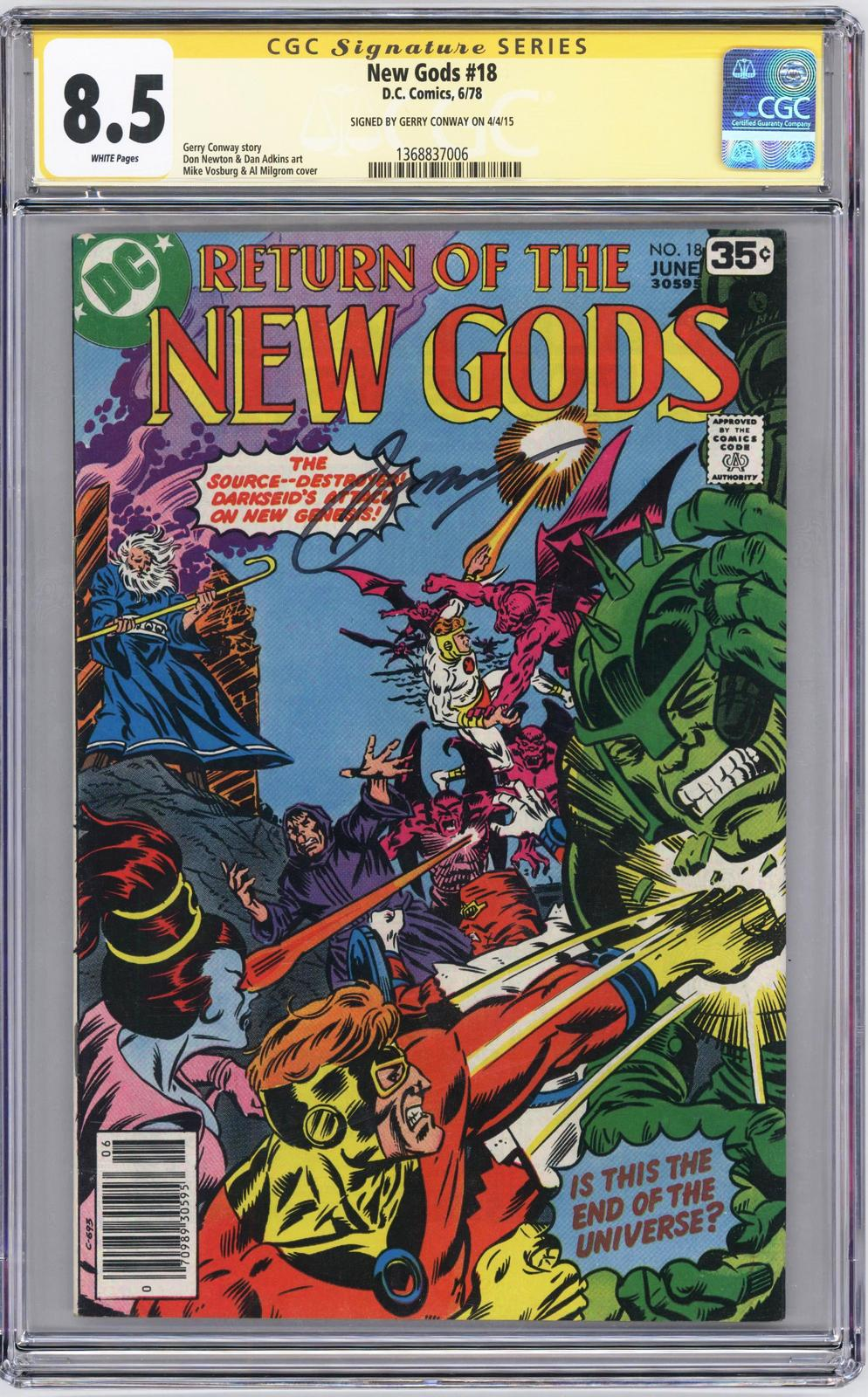 Primary image for New Gods #18 1978 DC Signed by Gerry Conway CGC 8.5