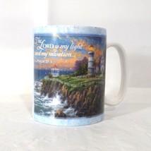 Amcal Art Inspirational Thomas Kinkade Victorian Light Mug Lighthouse - $12.86