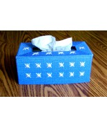 Tissue Topper, Long Box Style, Plastic Canvas, Handmade, Made to Order,  - $23.00
