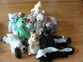 Lot of 15 Beanie Babies with Tags including 1993 Patti Platypus - Retired - $23.51