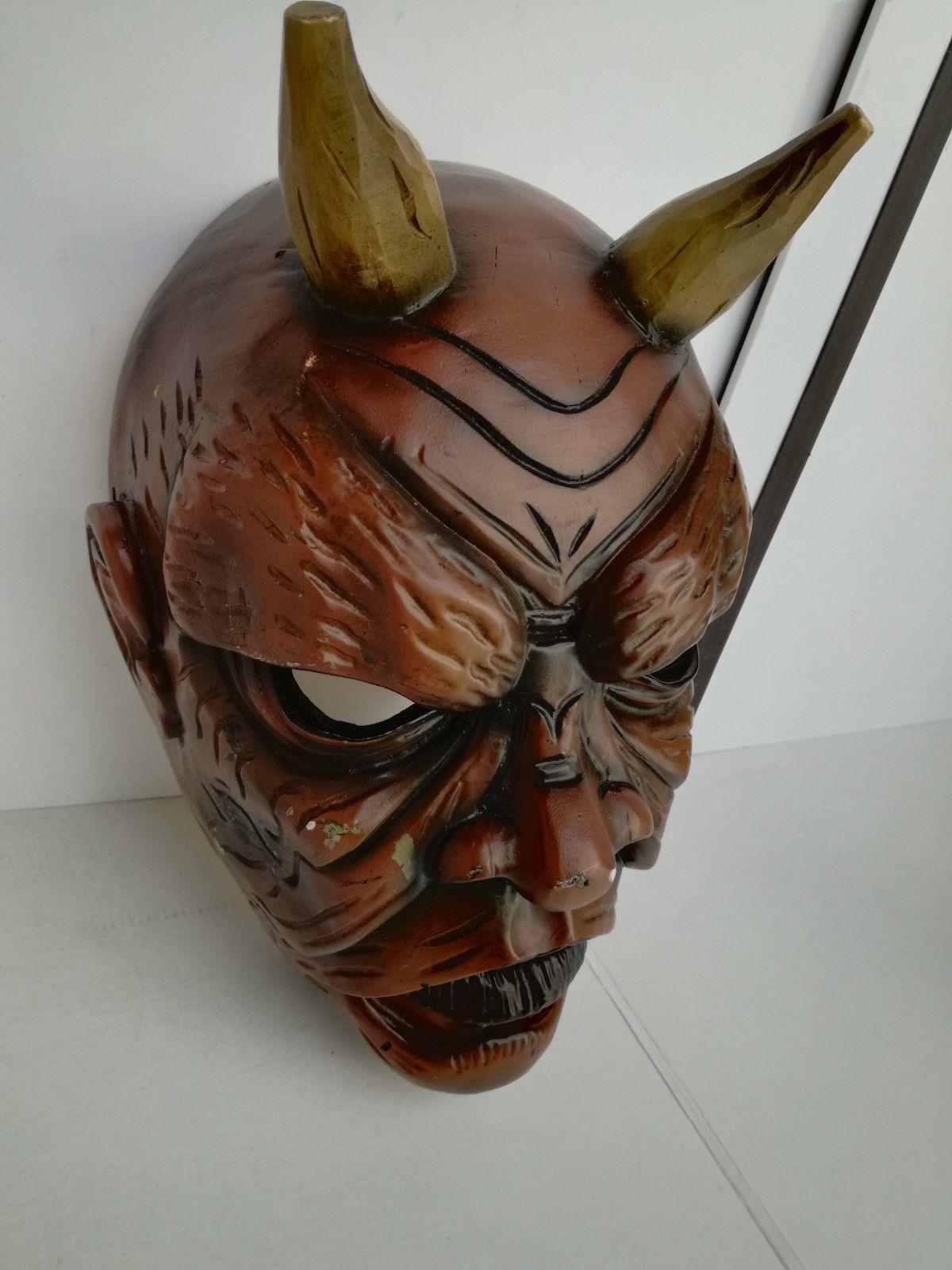Antique Nikolaus Krampus wood handcarved BLACK FOREST Devil Mask Gothic oddities image 6