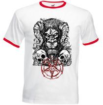 Baphomet Evil Spirit - New Cotton Red Ringer Tshirt - $24.17