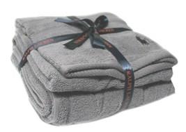 Polo Ralph Lauren Towel set Of 2 Bath Hand Dark Grey TV62 GIFT CHRISTMAS... - $68.02