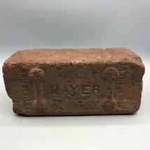 Vintage Mayer Bridgeville Red Brick Paving Garden Architecture Decor Wal... - $12.86