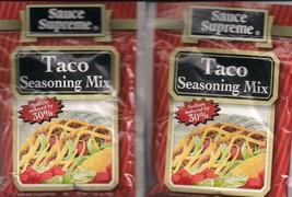 2 PACKS of Sauce Supreme® Taco Seasoning MIX new & fresh USA MADE - $5.81