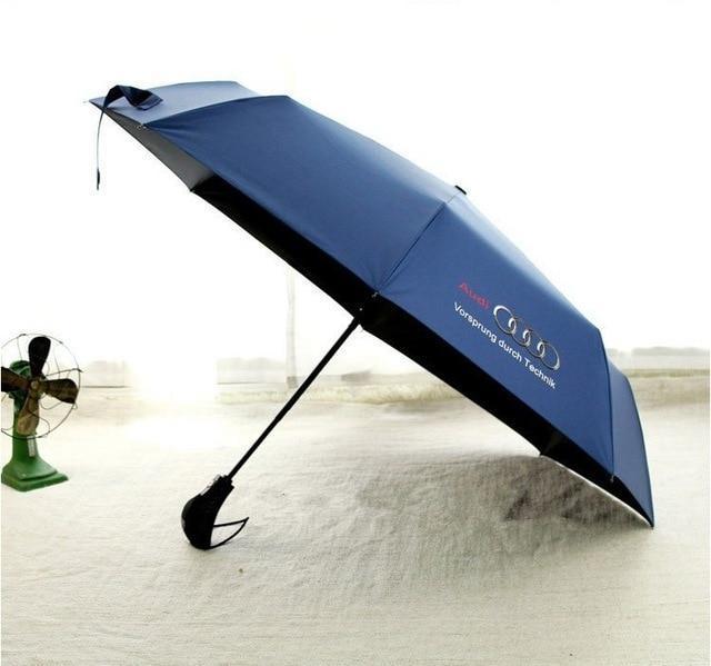 High quality Audi genuine leather handle Japanese brand sun rain Umbrella