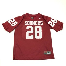 VINTAGE Nike Oklahoma Sooners Football Jersey Youth Size Medium M Red OU... - $23.23