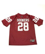 VINTAGE Nike Oklahoma Sooners Football Jersey Youth Size Medium M Red OU... - $27.33