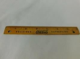 Original 1937 Coca Cola School Kit Wood Ruler - $14.41