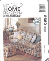 8660 UNCUT McCalls SEWING Pattern Home Decor Slipcovers Throw Pillows Co... - $7.56