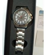 Elevon Aviator 43mm Black Dial Stainless Steel Men's Watch NEW ELE120-2 - $70.56