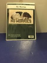 NO WORRIES Jeanette Crews Springer Spaniel Puppy Dog Counted Cross Stitc... - $9.49