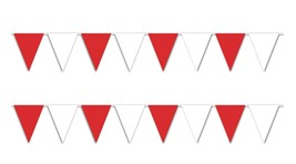 30 ft heavy duty Outdoor All Weather red white Pennant Banner flags deco... - $9.89