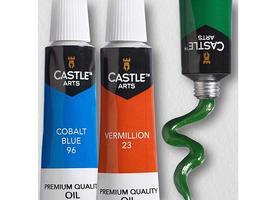 Castle Art Premium Oil Paints, Set of 24 Tubes image 3