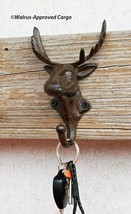 CAST IRON MOOSE WALL HOOK - NEW - TREAT ANY WALL TO A BIT OF NATURE! - $35.95