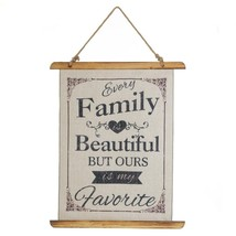 Decorative Wall Art, Beautiful Family Linen Living Room Small Wall Decor, Wood - $27.49
