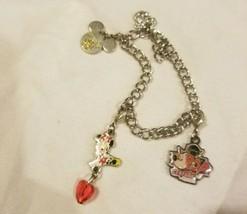 Walt Disney World Charm Bracelet Mickey And Minnie Mouse Disneys Pop Cen... - $17.63