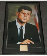 John F Kennedy JFK Signed Framed 29x44 Photo Poster Display JSA Full LOA - $3,819.99