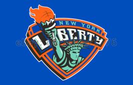 New York Liberty WNBA 3'x5' blue Flag Tina Charles Tanisha Wright USA seller - $25.00