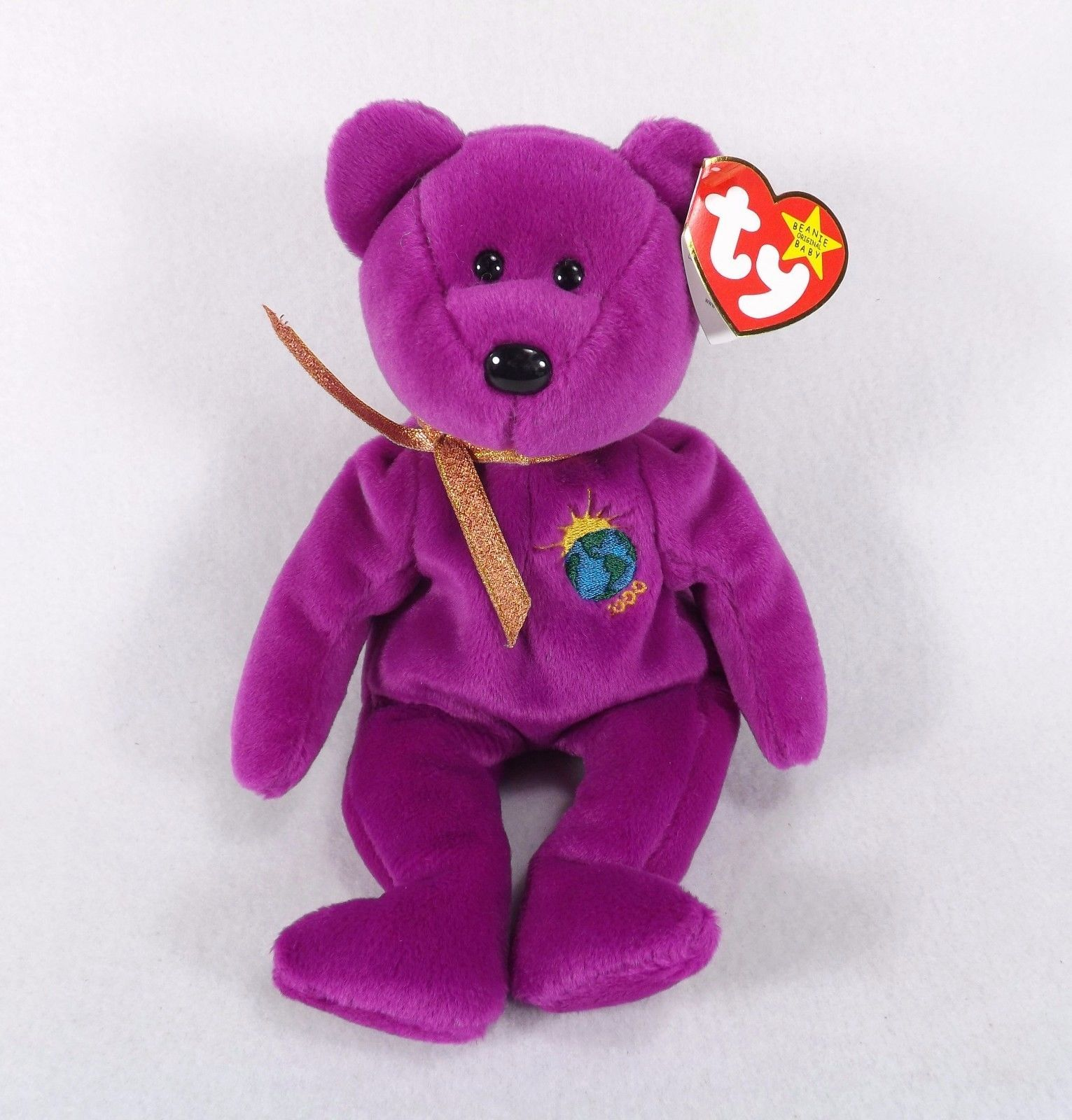 33c786b08b4 S l1600. S l1600. Previous. MILLENIUM BEAR 4TH GENERATION ERROR TAG-TY  BEANIE BABY-ADULT OWNED-EX COND
