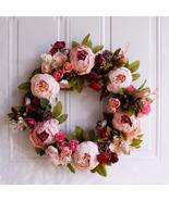Large Peonies Wreath | Front Door Wreath | Farmhouse Decor | Wall Decor Wreath - $47.00