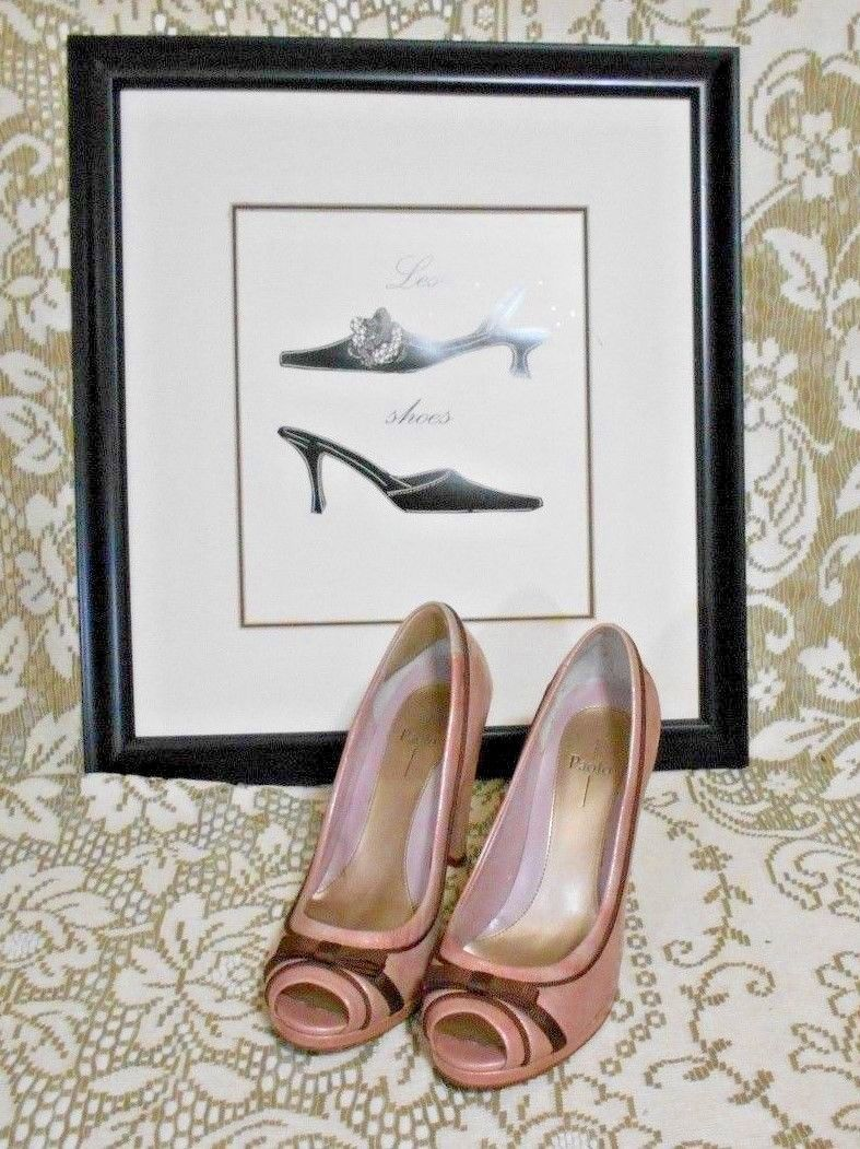 2046097a6 Linea Paolo Size 7 1 2 Pink Beige Patent and 50 similar items