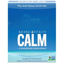 Natural Vitality Calm Anti-Stress Drink Mix Packets Magnesium Unflavored 30 Ct.. - $27.71