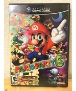 Mario Party 6 game Complete in original Case w/ Manual Black Label Gamecube - $77.16