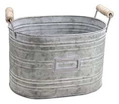 "Park Hill 5.5"" x 8.5"" Rustic Oblong Metal Bucket Planter - €18,50 EUR"