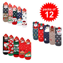 Women's Pack of 12 Holiday Gift Festive Christmas Pattern Santa Winter S... - $19.99