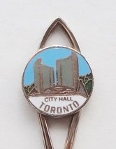 Collector Souvenir Spoon Canada Ontario Toronto City Hall Cloisonne Emblem - $6.99