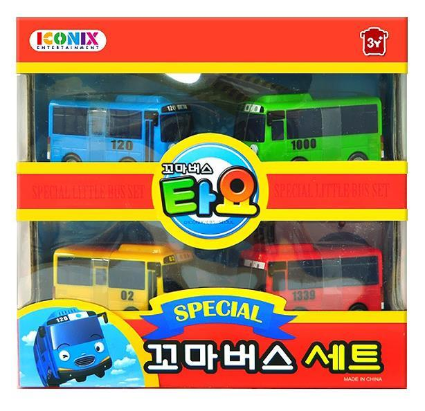 TAYO Little Bus TAYO Special Mini 4 Pcs Toy Set / Tayo + Rogi + Gani + Rani