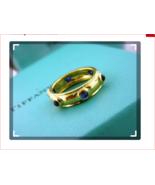 Tiffany & Co. 18k Yellow Gold Etoile Blue Sapphire Cabochon Eternity Ban... - $1,697.50