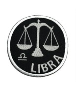 """Libra Zodiac Embroidered Iron On Patch 2.9"""" Choose Hook & Loop or Iron On - $5.87+"""
