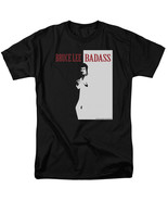 Bruce Lee Badass Scarface T Shirt Licensed Martial Arts Movie Actor Tee ... - $17.99+