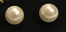 Genuine Freshwater Pearl Stud Earrings 6mm - $9.37