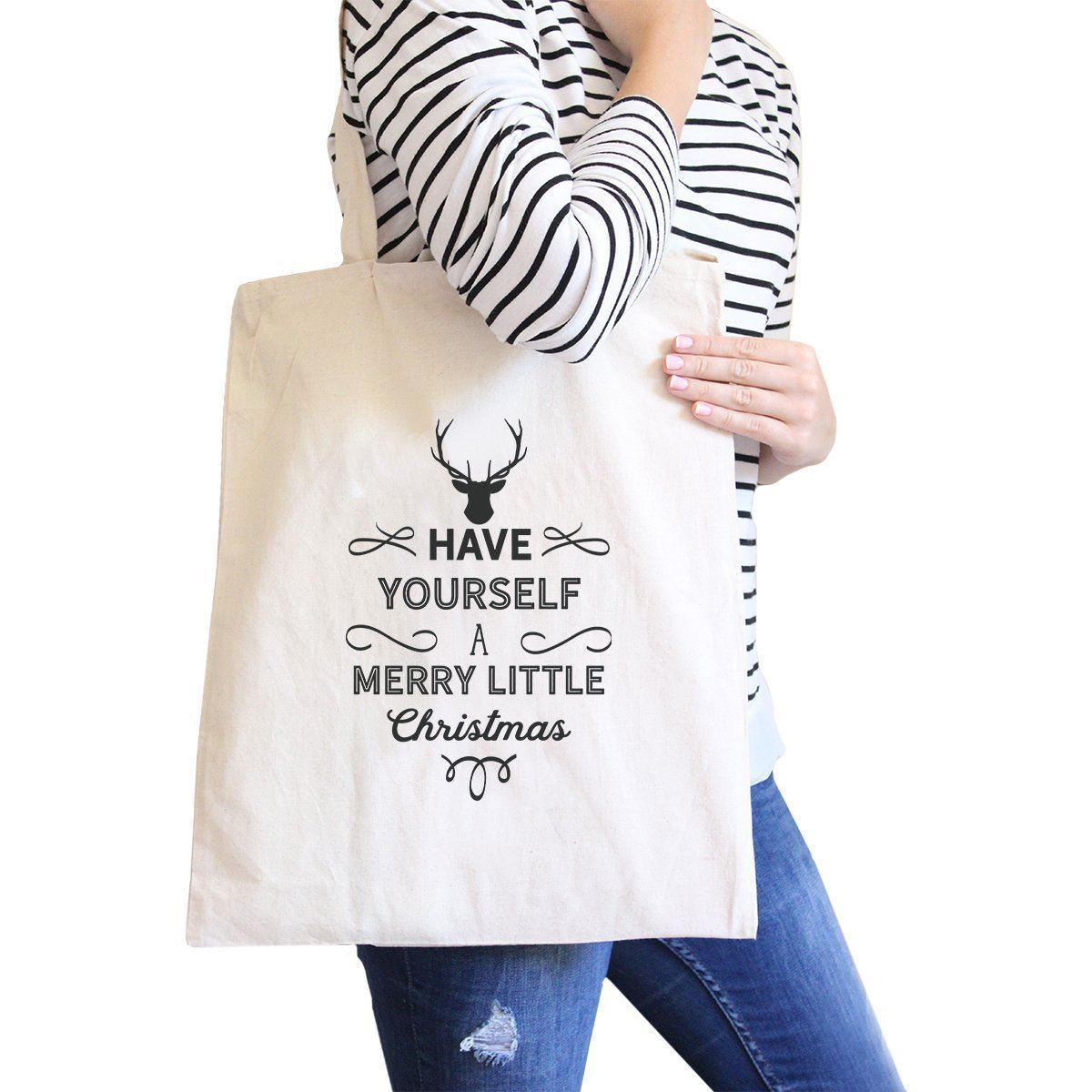 Primary image for Have Yourself A Merry Little Christmas Natural Canvas Bags