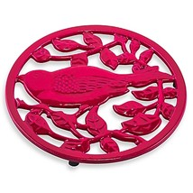 Old Dutch International 2-Tone Little Birdie Trivet in Pink/Berry - $11.99