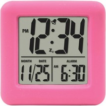 Equity by La Crosse 70902 Soft Cube LCD Alarm Clock (Pink) - $28.78