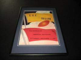 1951 LSU vs Tulane Football Framed 10x14 Poster Official Repro - $46.39