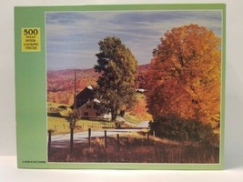 VTG A Home in the Country Rainbow Works 500 Pc Color Landscape Jigsaw Pu... - $21.77