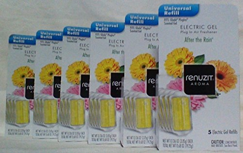 30 RENUZIT After The Rain ELECTRIC GEL PLUG IN REFILLS Fits Glade PlugIns 6 Box