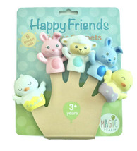 Magic Years Happy Friends Finger Puppets 5 Piece Farm Animal Set Colorful 3+ - $11.88