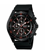 Casio Men's AMW370B-1A1 Black IP Marine Gear Chronograph Sports Diver Watch - $87.62
