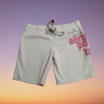 Aeropostale Soft Drawstring Bermuda Sweat Shorts with Textured Lettering  - $12.00