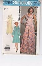 Dress Summer Lounge Wear Tucked Front 1976 Simplicity Pattern 7794 Size 14 Uncut - $14.84