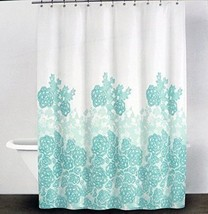 DKNY Fabric Shower Curtain Graphic Lace -- Glacier -- Donna Karen of New... - $29.07