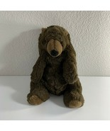 "Walmart Brown Bear Plush Vintage Stuffed Animal Teddy Sitting 14"" Tall Toy - $21.78"